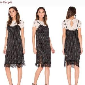 FREE PEOPLE Margot 2piece Dress Set Black SZ 8
